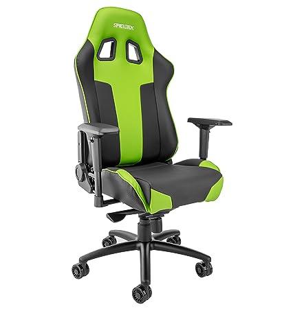 Groovy Amazon Com Spieltek Bandit Xl Gaming Chair Green Kitchen Frankydiablos Diy Chair Ideas Frankydiabloscom