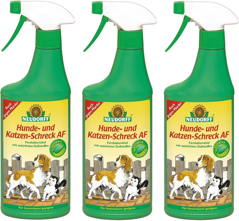 3 x 500 ml Neudorff para ahuyentar a perros y gatos AF, listas para usar: Amazon.es: Jardín