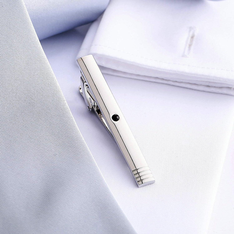 Aeici Pince /À Cravate Homme Zircon Violet Cravate Pince Homme Argent Pince Cravate Cadeau Papa LOn