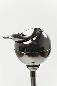 Kare Cenicero Esférico con Solapa Plegable, Metallic Black, 13 x 13 x 72 cm, Metal, Negro: Amazon.es: Hogar