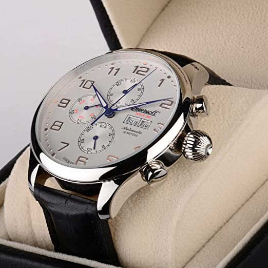 Ingersoll Apache White Dial with Rose Gold Tone Numbers c5ed1eb4121