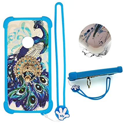 Case for ZTE Quest Plus z3001s Sapphire 4g Case Silicone Border + PC Hard  backplane Stand Cover XKQ