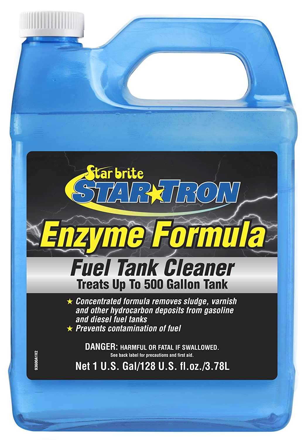 Star Tron Gas Tank & Fuel System Cleaner - Remove Sludge & Deposits From Gasoline & Diesel Fuel Tanks + Clean Injectors & Fuel Lines Star brite 093600N