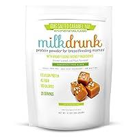 Milk Drunk Fenugreek-Free - Salted Caramel Dairy Free Protein Powder for Breastfeeding...