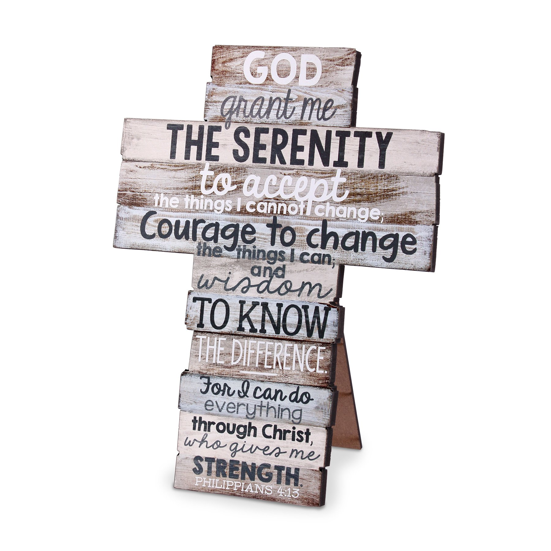 Lighthouse Christian Products Small Serenity Stacked Wood Wall/Desktop Cross