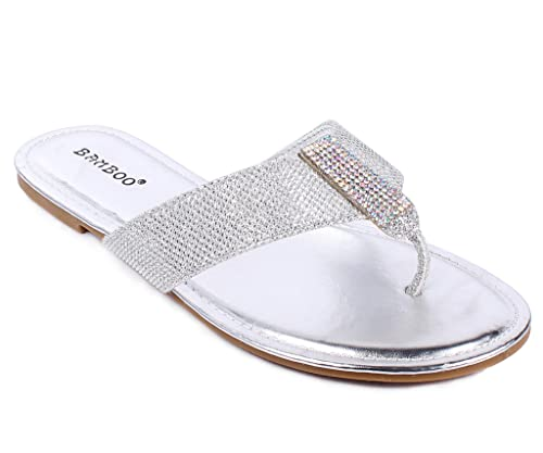 11667bc3b9fa8 Fashion Slip On Only Sparkle T-String Stylish Womens Flats Flip Flops  Sandals Casual Shoes