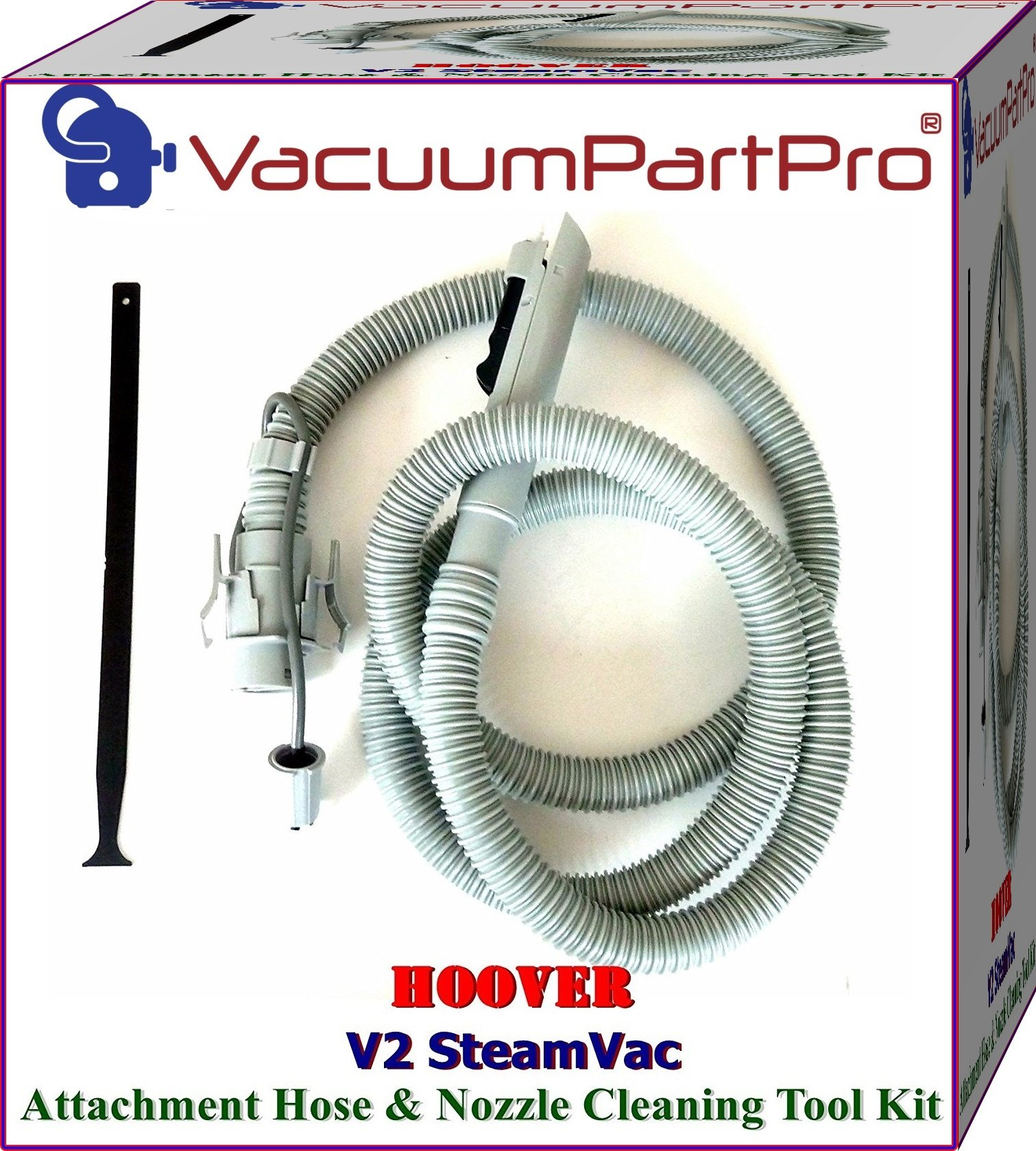 Hoover V2 SteamVac Attachment Hose -Latch Style and Nozzle CleanOut Tool By Vacuum Part Pro