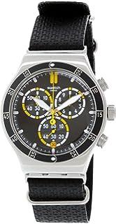 Swatch Mens Irony YVS422 Black Resin Swiss Quartz Watch