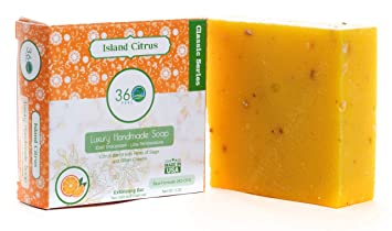 Handmade Soap Island Citrus, X-LARGE 5oz Handmade Soap bar- Citrus with  hints of sage and other