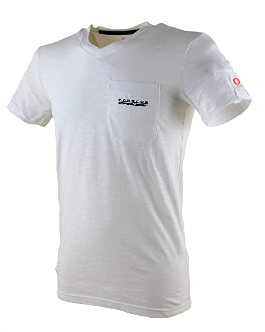 a68b40865b5be adidas Originals Porsche Camiseta V Cuello Camiseta Blanco Blanco L  Amazon. es  Ropa y accesorios