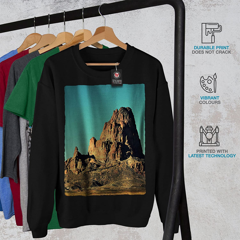 High Casual Jumper wellcoda Desert Rock Photo Nature Mens Sweatshirt