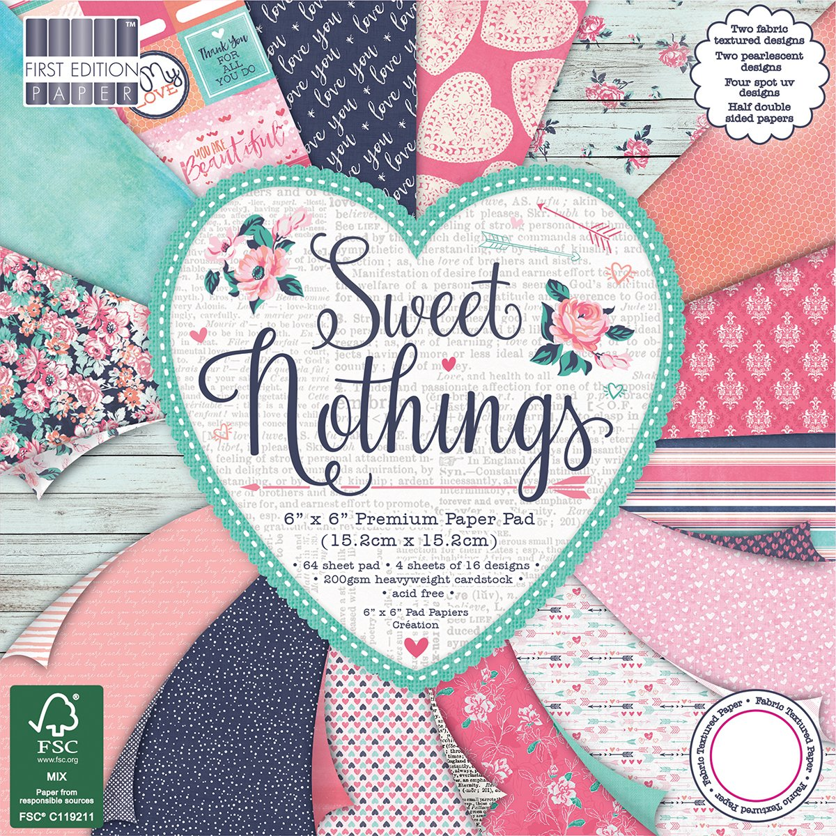 First Edition 6x6 FSC Paper Pad Sweet Nothings