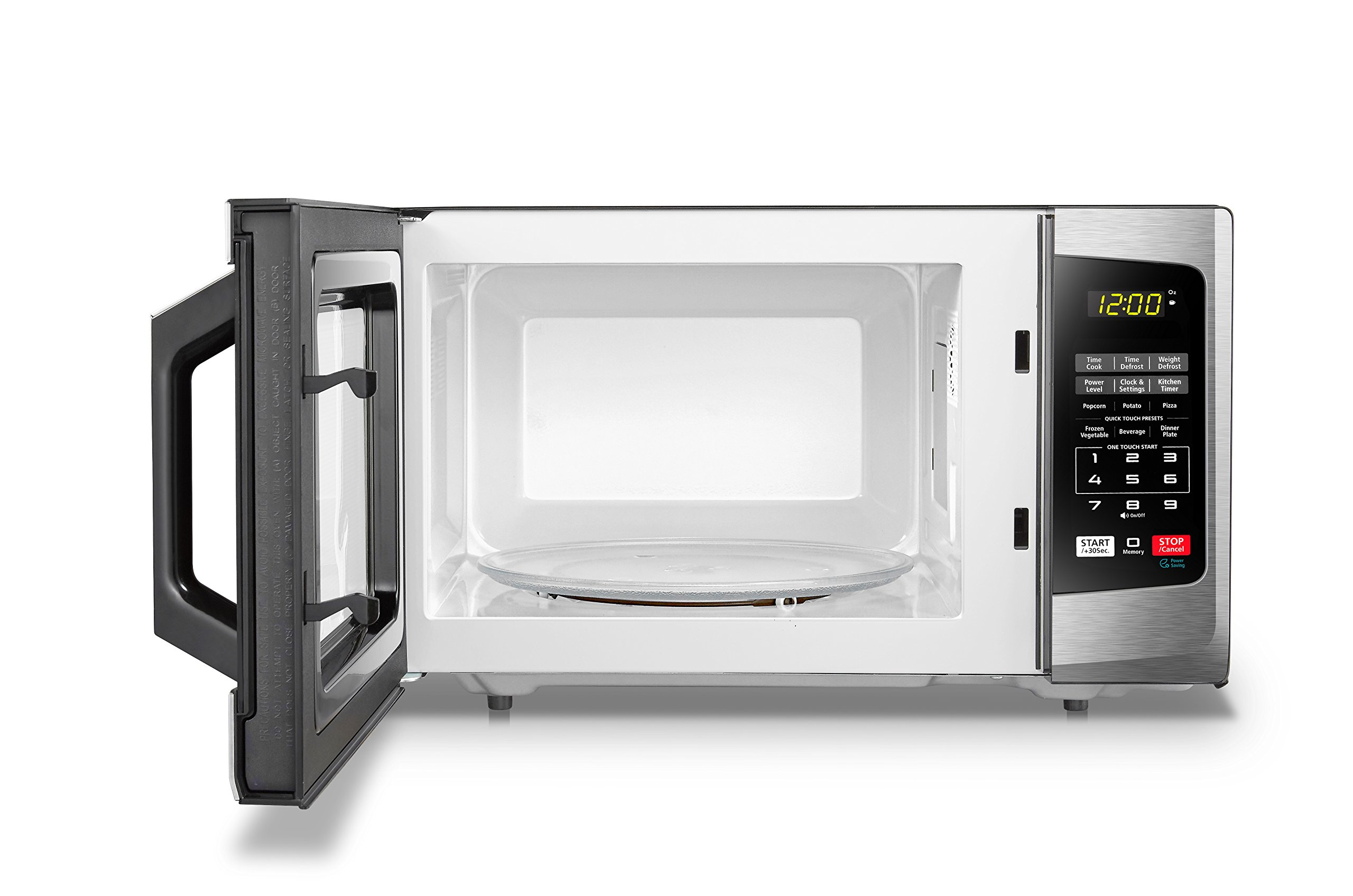 Toshiba EM925A5A-SS Microwave Oven with Sound On/Off ECO Mode and LED Lighting 0.9 cu. ft. Stainless Steel by Toshiba (Image #7)