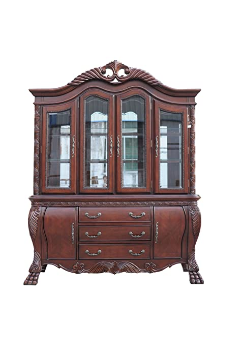 Amazon.com - ACME 60270 Quinlan Hutch and Buffet China Cabinet ...