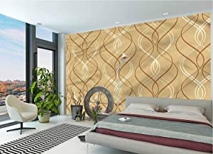 Abstract DIY Wall Murals,Curvy Stripes Line Pattern Peel and Stick PVC Wallpaper for Living Room Bedroom Office Decoration-144x100 Inch