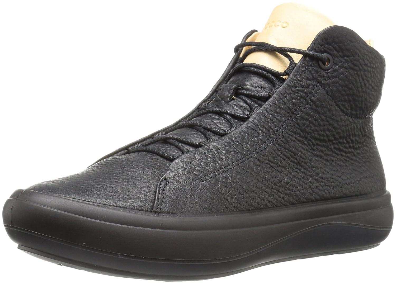 ECCO Women's Kinhin High Top Fashion Sneaker B01M293PHN 35 EU / 4-4.5 US|Black/Veg Tan