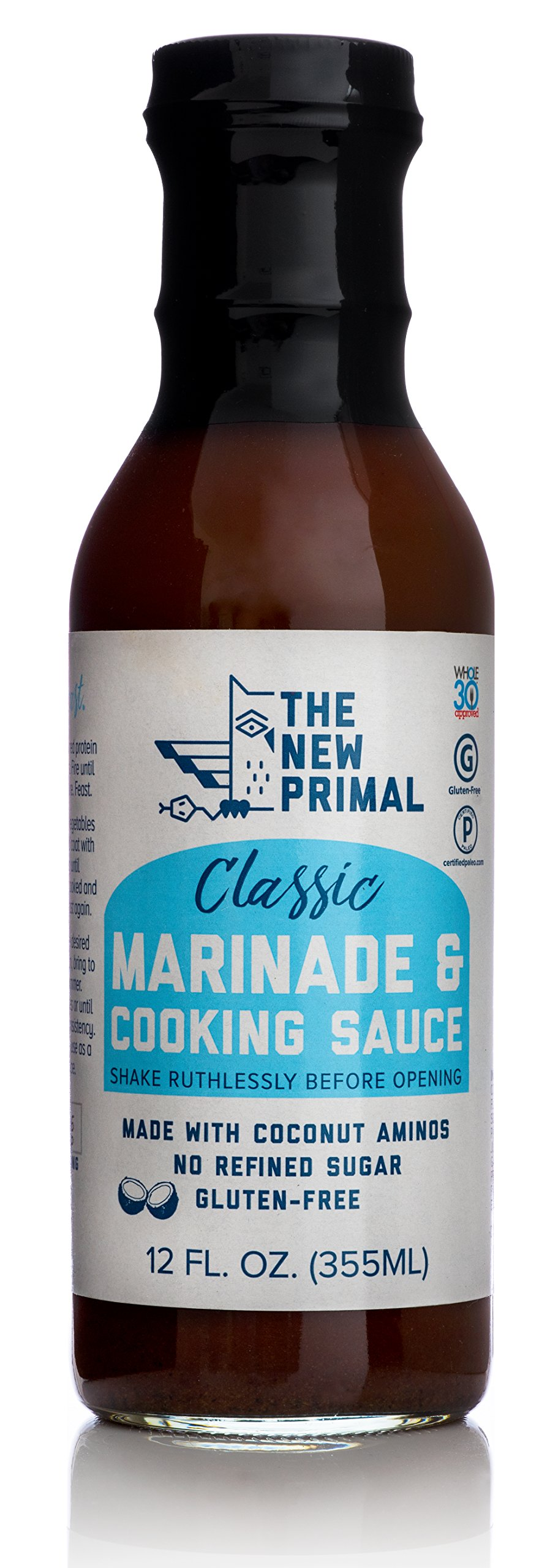 The New Primal Classic Marinade & Cooking Sauce, Whole30 Approved, Certified Paleo, Certified Gluten-Free, No Refined Sugar, 12oz