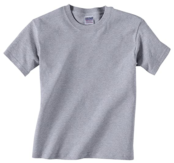 495b1d3381d Amazon.com  Gildan Youth Heavy Cotton T-Shirt 5000B-Sport Grey  Clothing