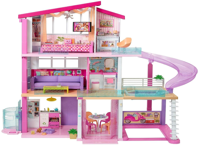 Barbie Dolls Hello Dreamhouse Dollhouse W Kitchen: Barbie Dream House Mansion 3 Story 8 Bedroom W/Elevator