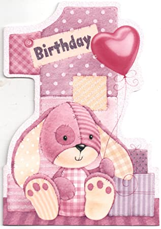 Birthday Card For One 1 Year Old Girl