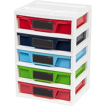 Amazon Com Iris 5 Drawer Storage Amp Organizer Chest