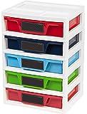 IRIS 5 Drawer Storage & Organizer Chest, Assorted Colors
