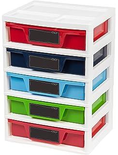 Superbe IRIS 5 Drawer Storage U0026 Organizer Chest, Assorted Colors