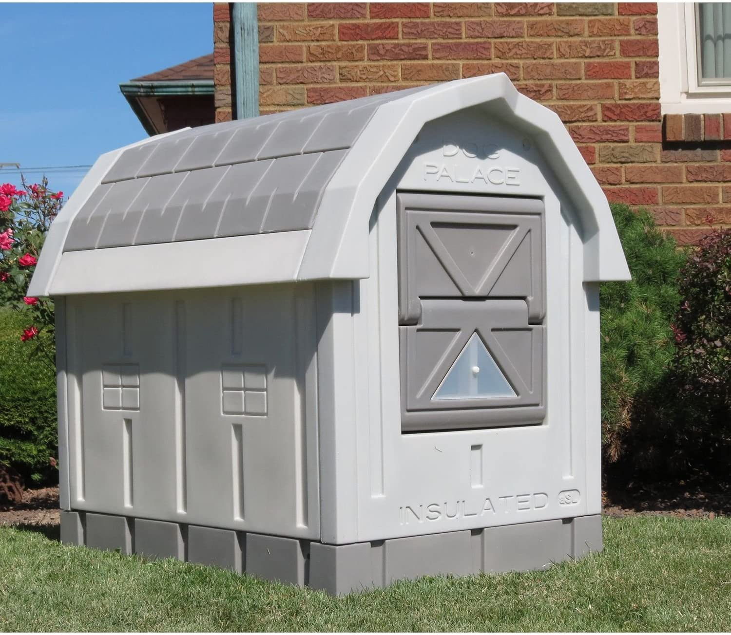 ASL Solutions Dog Palace for Med to Large Dogs – Gray
