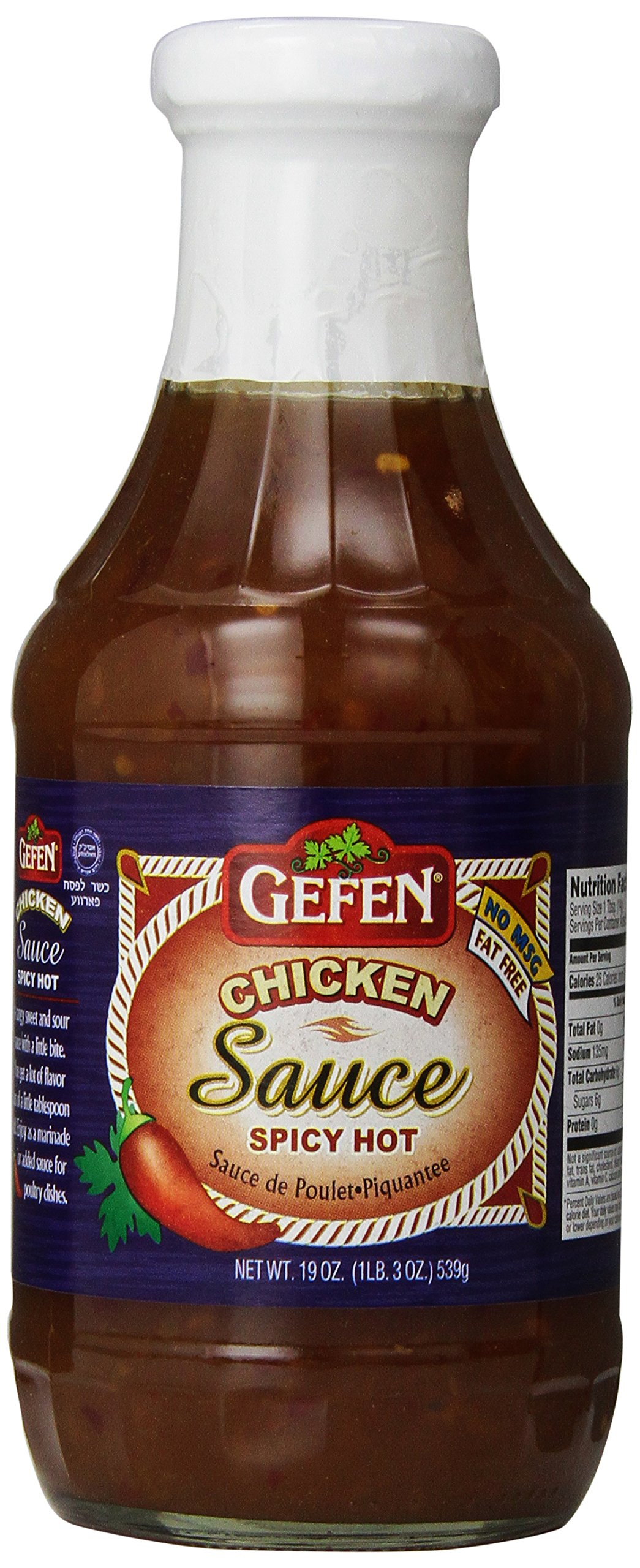 Gefen Hot Chicken Sauce, 19 Ounce (Pack of 12) by Gefen