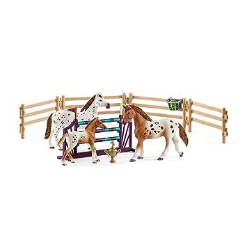 Schleich - Entrenamiento para el Concurso de Horse Club Lisa. Set con Figuras y Accesorios.: Amazon.es: Juguetes y juegos