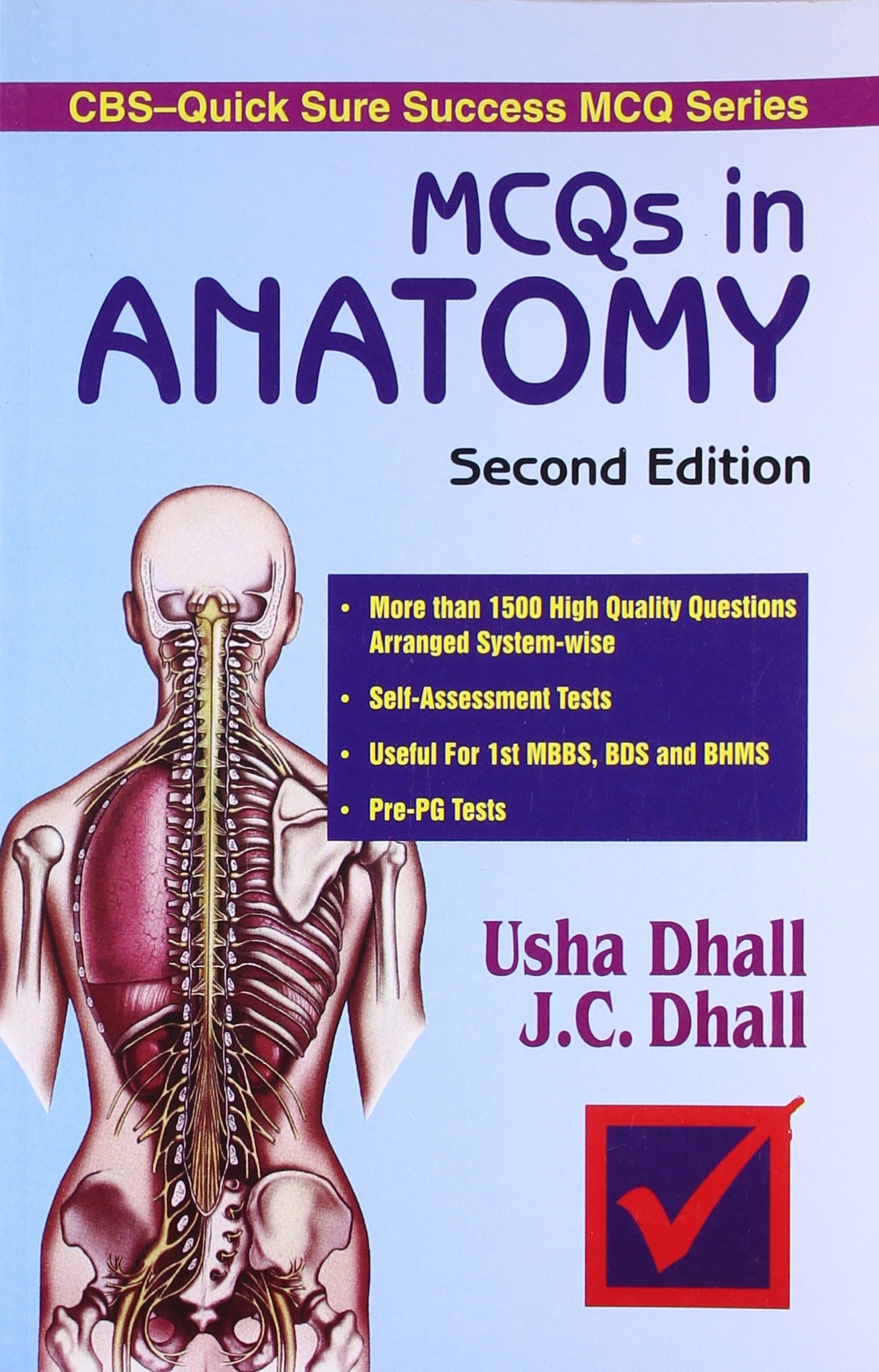 Mcqs In Anatomy Dhall Dhall 9788123909066 Amazon Books
