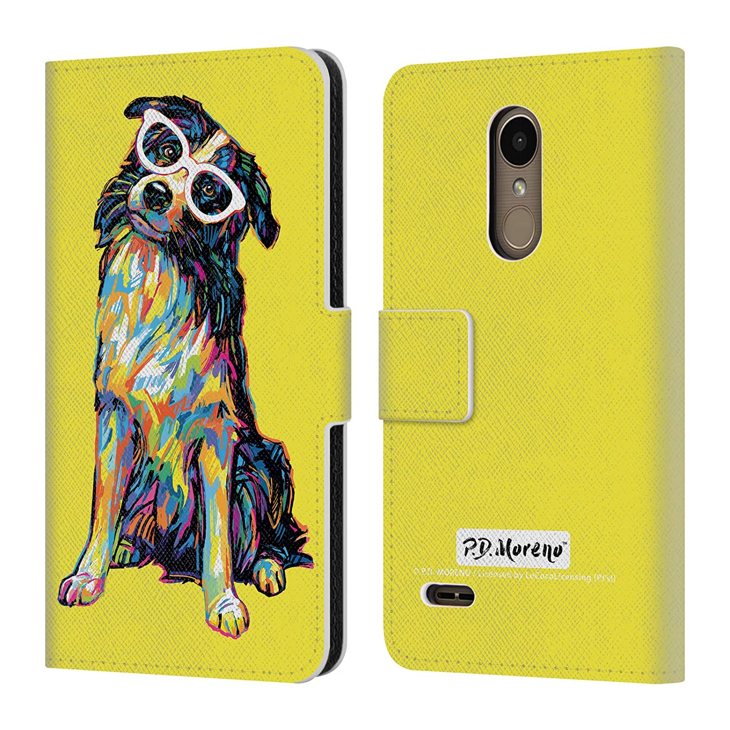 Official P.D. Moreno Border Collie Dogs Leather Book Wallet Case Cover Compatible for LG K10 / K11 / K11 Plus (2018)