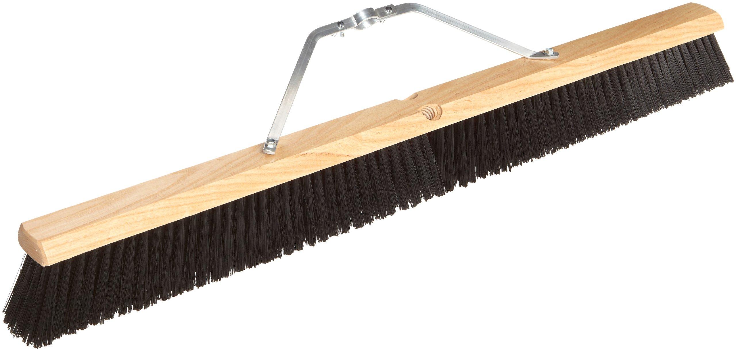 Magnolia Brush 1136 LH Line Floor Brush, Plastic Bristles, 3'' Trim, 36'' Length, Dark Red/Black (Case of 6)