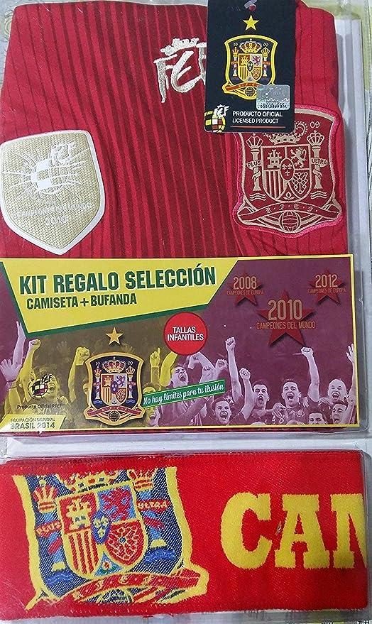 Kit selección española camiseta + bufanda (Talla 12) Producto ...