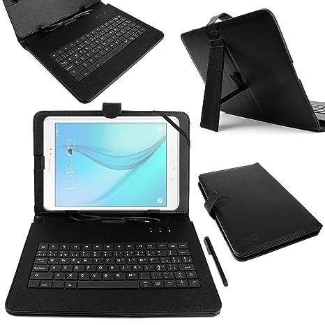 """DURAGADGET Funda/Teclado ESPAÑOL Negro 10.1"""" para Tablet Samsung Galaxy Tab A 2016 SM"""