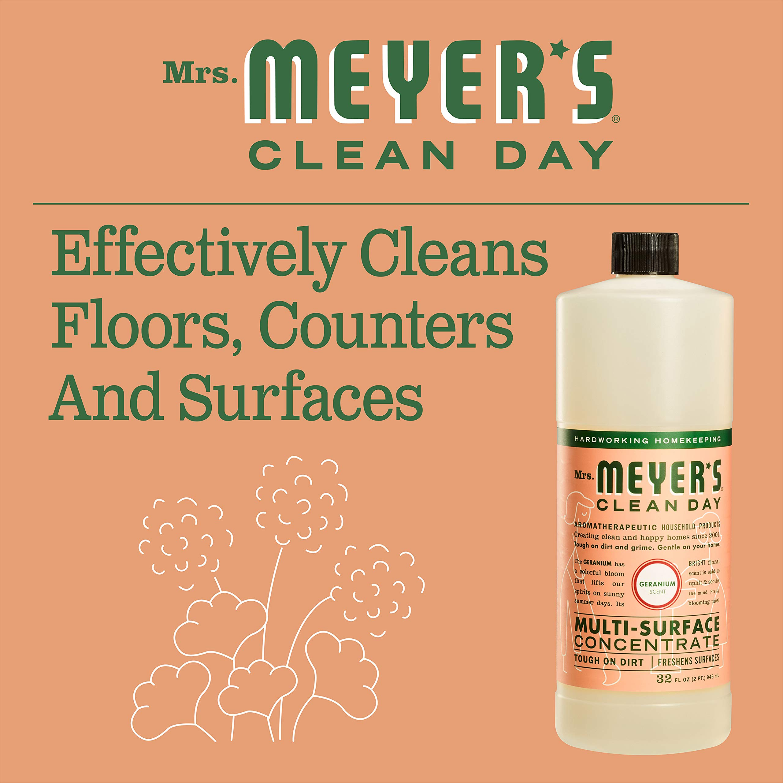 Mrs. Meyer's Clean Day Multi-Surface Concentrate, Geranium, 32 fl oz, 2 ct by Mrs. Meyer's Clean Day (Image #3)