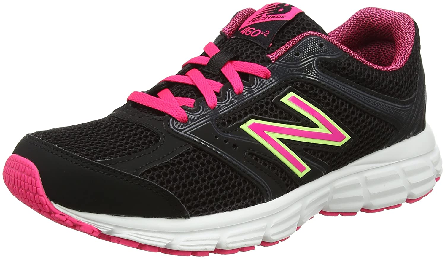 New Balance Women's 460v2 Cushioning B01NBODBLB 9.5 D US|Black/Pink