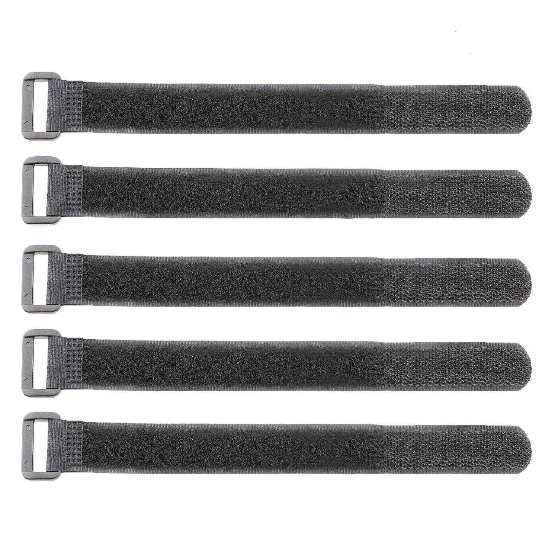 Pasow fermacavo in Velcro, con estremità in plastica, con cinghie di Velcro, riutilizzabile-20,32 (8') cm con estremità in plastica 32 (8) cm Pasow Tech