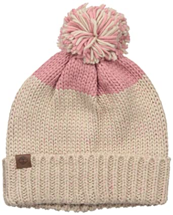 Timberland Women s Color Blocked Knit Watch Cap with Pom 699908652fc