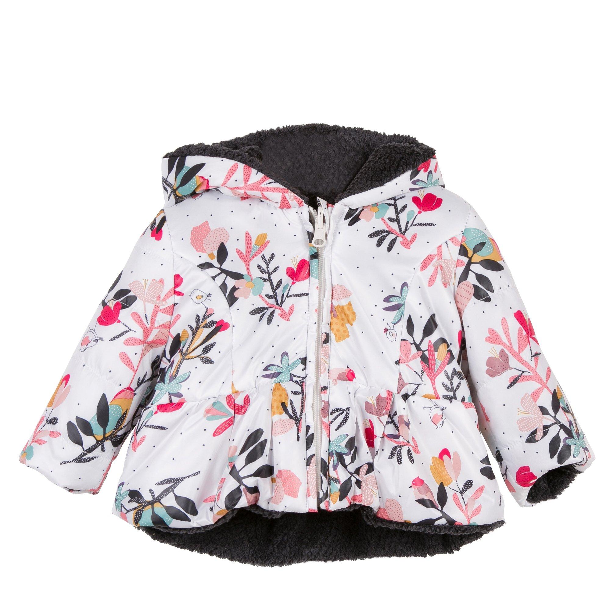 Catimini Floral & Charcoal Ma De Moi Zèle Reversible Jacket (2T) by Catimini