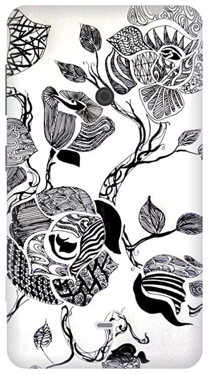 The Racoon Grip Zentangle Rose Hard Plastic Printed Amazon In