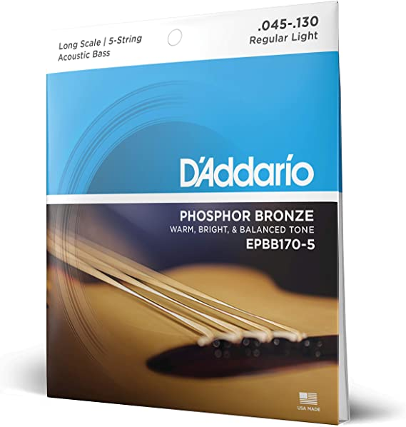 D'Addario EPBB170-5 Phosphor Bronze 5-String Acoustic Bass Strings