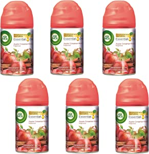 Air Wick Freshmatic Automatic Spray Air Freshener, Apple Cinnamon Medley Scent, 1 Refill, 6.17 Ounce (Pack of 6)