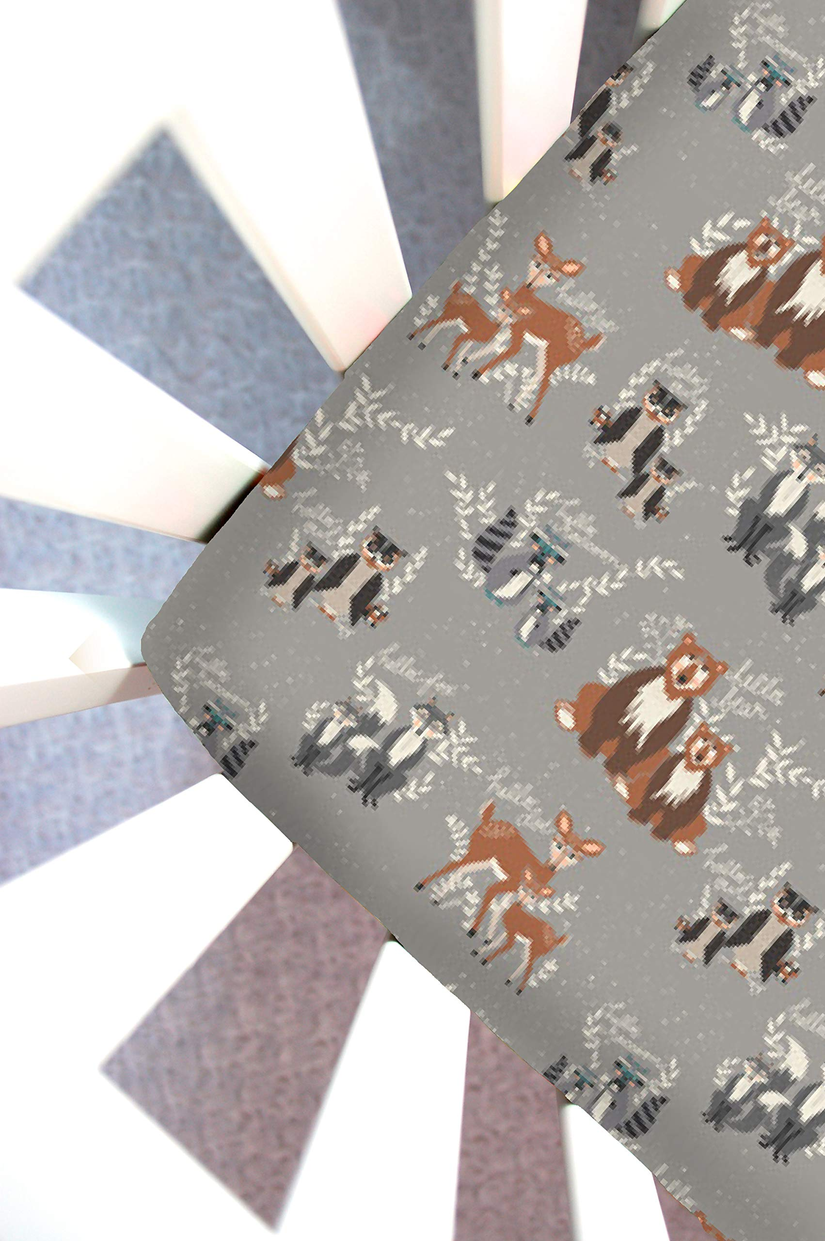 Little Moose by Liza Handmade Sheet Made to Fit Baby Bjorn Cradle in Hello Fog (Gray Woodland Animals). This Sheet was Not Created or Sold by Baby Bjorn. by Little Moose By Liza LLC
