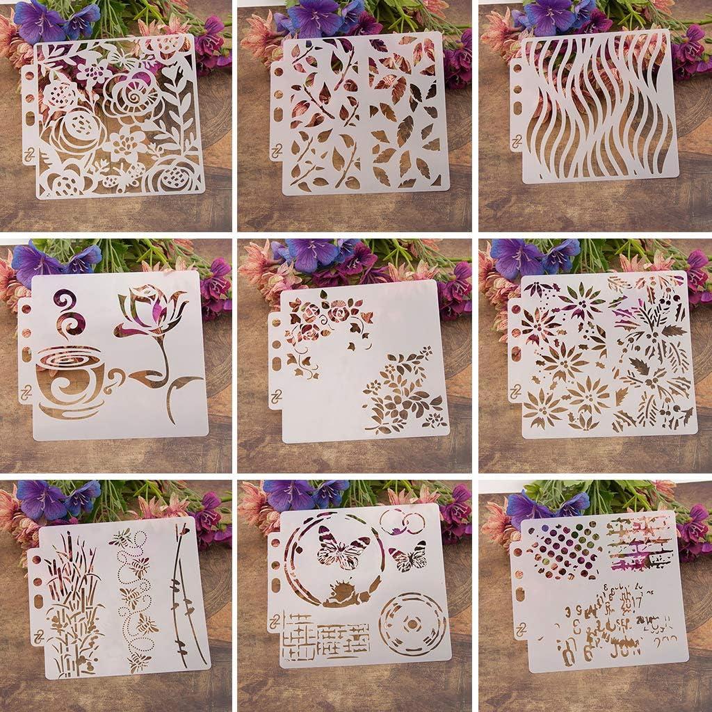 ZOOMY Plantillas de Plantillas para Chicas Pintura Scrapbooking Grabado En Relieve Estampado de /Álbum de Tarjetas DIY