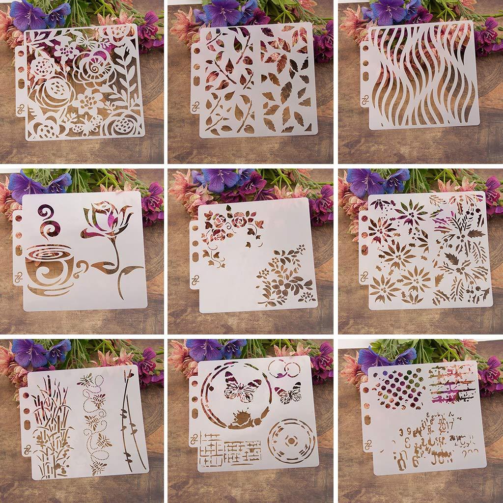 ZOOMY Plantilla de Plantillas de /Árbol Pintura Scrapbooking Estampado Estampado Tarjeta de Artesan/ía /Álbum