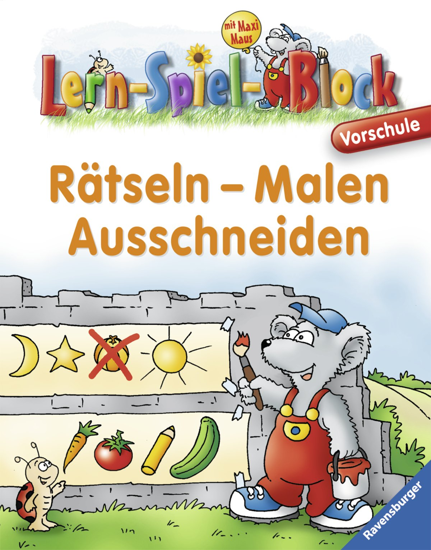 Rätseln - Malen - Ausschneiden Vorschule Lern-Spiel-Block: Amazon.de ...