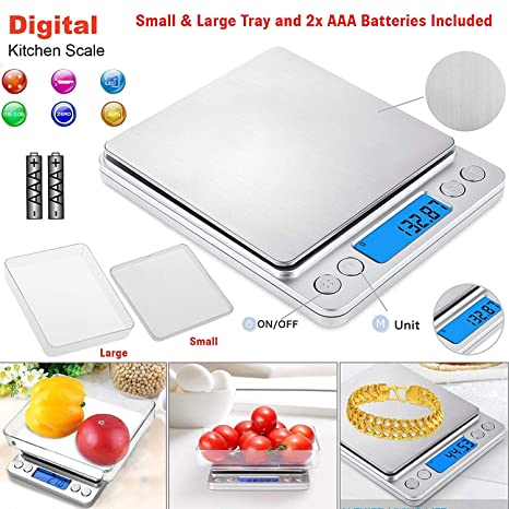 Small 0.01g-500g Pocket Digital Gold Weighing Pans Scales Jewelry Scale Mini