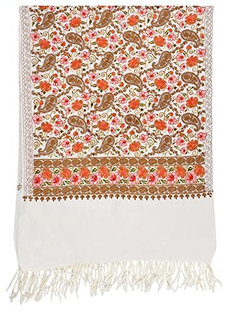 The Madhusudan Gallery Kashmiri Embroidery Indian Shawl Stole Scarf