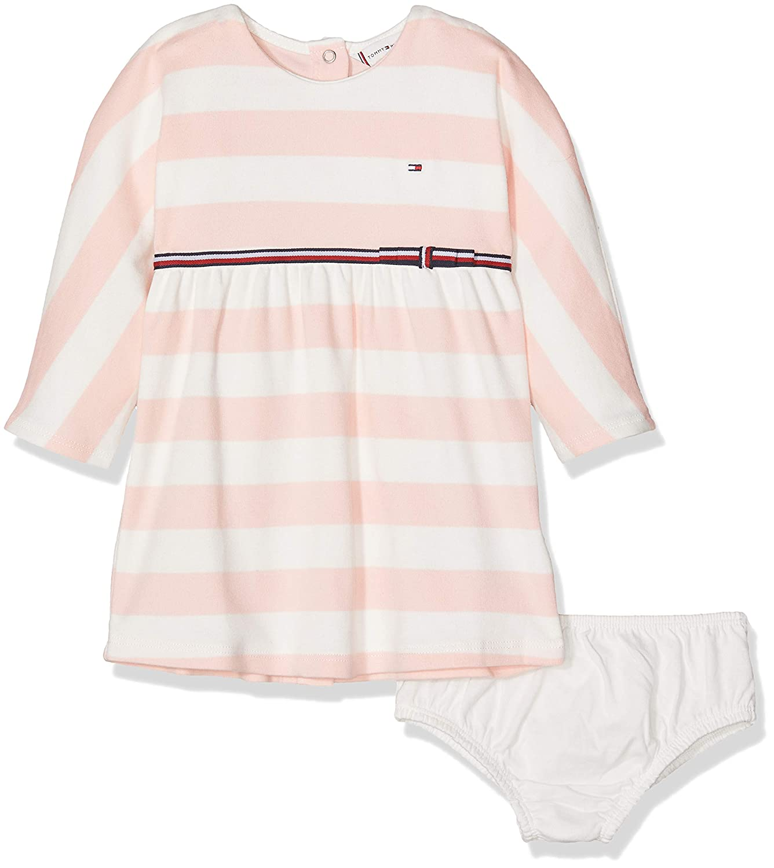 Tommy Hilfiger Unisex Bekleidungsset Baby Rugby Stripe Dress L/S KN0KN00880